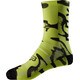 "Fox 8"" Print Trail Socks Men yellow/black"